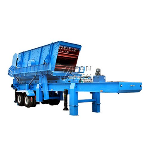 Moving roller crusher